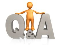 Questions & Answers. Computer generated image - Questions & Answers Royalty Free Stock Images