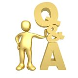 Questions And Answers. Computer generated image - Questions And Answers Stock Images