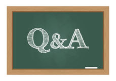 Questions and answers. On chalkboard Royalty Free Stock Images