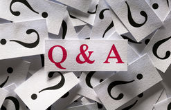 Questions & Answers Stock Image