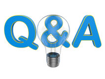 Questions and answers concept Royalty Free Stock Images