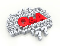 Questions and Answers. Crossword concept 3d Royalty Free Stock Photography