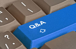 Questions and answers. Hot key for questions and answers Royalty Free Stock Image