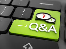 Questions and answers key Royalty Free Stock Photography