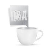 Questions and answers over coffee. illustration Royalty Free Stock Photography