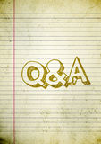 Questions and Answers paper. Vintage background with old letters Royalty Free Stock Photography