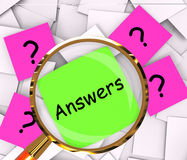 Questions Answers Post-It Papers Show Asking And Finding Out. Questions Answers Post-It Papers Showing Asking And Finding Out Royalty Free Stock Photos