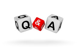 Questions and Answers Sign Stock Photography