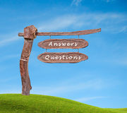 Questions and answers. Sign to questions and answers Royalty Free Stock Photo