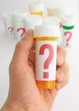 Questions au sujet de médecine Images libres de droits