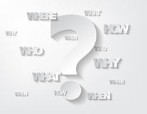 Questions Background Royalty Free Stock Photography