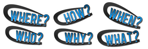 Questions Banner Blue Royalty Free Stock Image