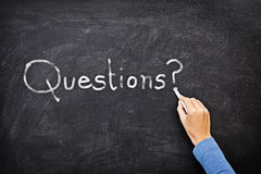 Questions blackboard Royalty Free Stock Photos