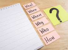 Questions Busniess concept 7 Royalty Free Stock Photo