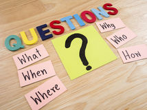 Questions Busniess concept 8 Stock Images