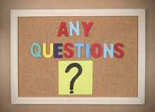 Questions Busniess concept 27 Stock Photography