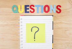 Questions Busniess concept 2 Royalty Free Stock Photos