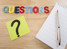 Questions Busniess concept 12 Royalty Free Stock Photo