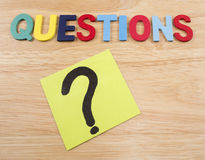 Questions Busniess concept 3 Stock Photo
