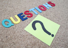 Questions Busniess concept 14 Royalty Free Stock Photo