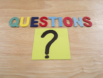 Questions Busniess concept 22 Stock Image