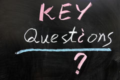 Questions clé image stock