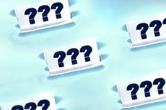 '???' Questions concept Stock Photography