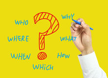 Questions concept Royalty Free Stock Photos
