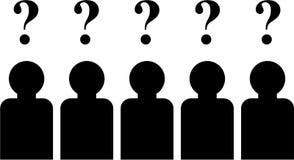 Questions d'équipe illustration de vecteur