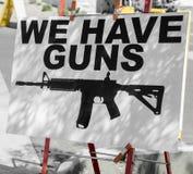 Questions d'arme à feu dans l'image de concept de l'Amérique Image libre de droits