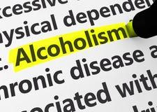 Questions de Social de dépendance d'alcoolisme Photo libre de droits