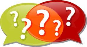 Questions dialog conversation talking Illustration clipart Stock Photos