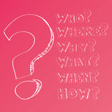 Questions Doodles Stock Images