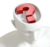 Questions and doubts Royalty Free Stock Images