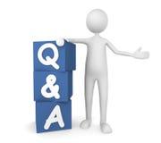 Questions et réponse Photo stock