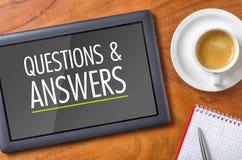 Questions et réponse Images libres de droits