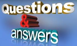 Questions et réponse illustration stock