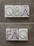 Questions et réponse - Q&A Images libres de droits