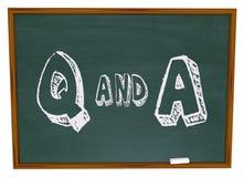 Questions et réponse - tableau Photos libres de droits