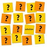 Questions et solution Photo libre de droits