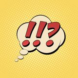 Questions exclamation marks. Comic text Pop art style. Color comics book. Cartoon vector illustration Royalty Free Illustration