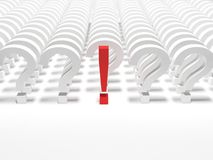 Questions and exclamation sign Stock Image