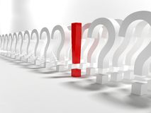 Questions and exclamation sign Royalty Free Stock Photography