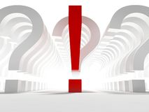 Questions and exclamation sign Stock Photos