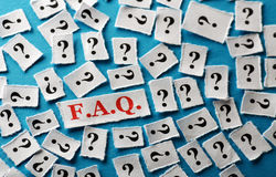 Questions faq Royalty Free Stock Photo