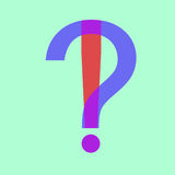questions flat design icon isolated Royalty Free Stock Photos