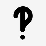 questions flat design icon isolated Royalty Free Stock Images