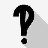 questions flat design icon isolated Stock Photography