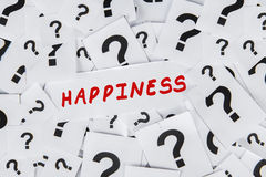 Questions on Happiness Stock Images