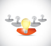 Questions and idea people. illustration design Royalty Free Stock Images